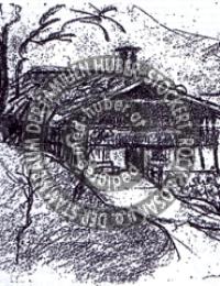 Lamelerhof - früher (Skizze Alfons Huber II.)